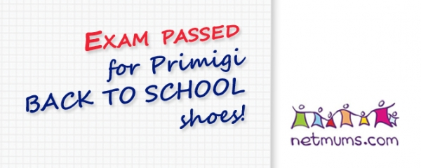 Exam passed for Primigi BACK TO SCHOOL shoes!